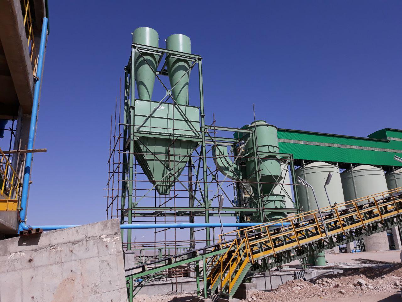 عملیات نصب اسکرابرو فن سانتریفوژ مربوط به غبارگیربخش Product مجتمع فولاد نی ریز