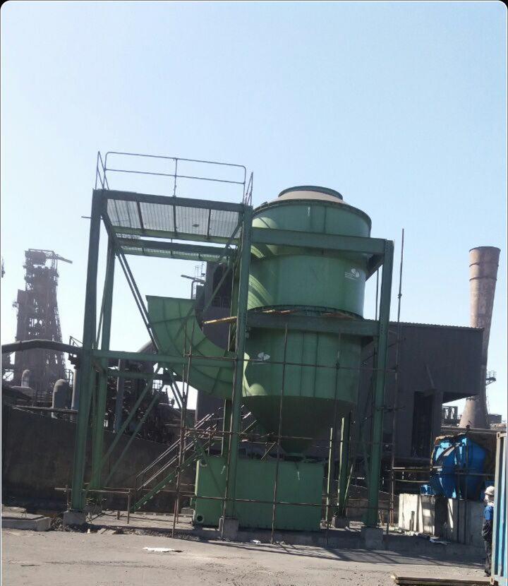 آغاز عملیات نصب غبارگیر از نوع اسکرابر مربوط به شرکت فولاد مبارکه